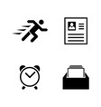business organization simple related icons vector image