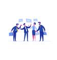 business person negotiation investment portfolio vector image