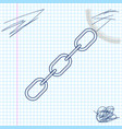 chain link line sketch icon isolated on white vector image