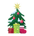 christmas concept flat style vector image