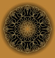 circle gold lace vintage ornament on gradient vector image vector image