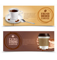Coffee horizontal banners set
