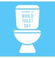 concept of world toilet day with inscription on vector image