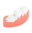 Crooked tooth icon isometric 3d style vector image