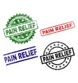 damaged textured pain relief stamp seals vector image vector image