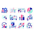 data analysis flat set vector image vector image