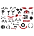 Design elements for motosport and racing vector image vector image