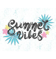 design for t-shirt quote summer vibes vector image vector image