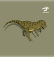 dinosaur tyrannosaur in isometric style vector image vector image