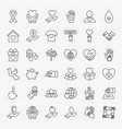 donation volunteer line icons set vector image vector image