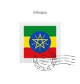 Ethiopia Flag Postage Stamp vector image vector image
