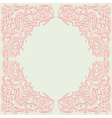 Exquisite frame doodle style vector image