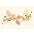 Fall season leaf and bubbles composition vector image vector image