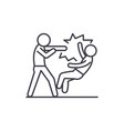 fight line icon concept fight linear vector image vector image