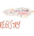 fix your computer how to clean registry text vector image vector image