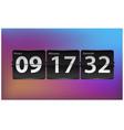 flip countdown timer template analog clock vector image vector image