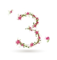 Floral number three for your design vector image vector image