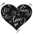 Hand drawn romantic typography poster Lovely Quote vector image