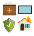 house insurance services elements vector image