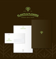 logo and corporate identity for the store plants a vector image