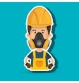 man worker mask gas vector image