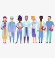 medical team doctors in trendy gradient color vector image