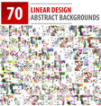 mega collection of linear design backgrounds vector image