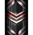 modern dark metallic background vector image vector image