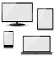monitor laptop tablet computer and mobile phone vector image vector image