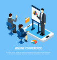 online conference business background vector image vector image