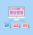 online education and courses with files icons vector image