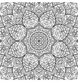oriental black and white ornament vector image vector image