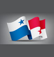panama waving flag icon isolated official symbol vector image