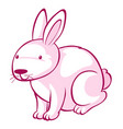 pink rabbit on white background vector image