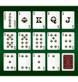 Playing cards Set Spades vector image vector image