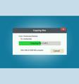 progress bar of file copying vector image vector image