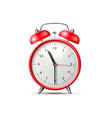 red classic alarm clock with bell vector image