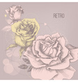 Retro rose background greeting card vector image vector image