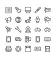 science and technology line icons 2 vector image vector image