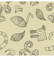 Seamless texture with elements of the animal style vector image vector image