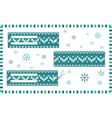 set of rectangular horizontal christmas knitted vector image vector image