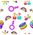 Sexual minorities pattern cartoon style vector image