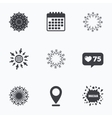 Snowflakes artistic icons Air conditioning vector image vector image