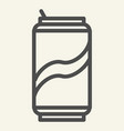 soda can line icon drink in aluminum tin vector image vector image