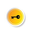 sticker of key icon vector image
