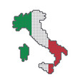 style map of italy in colors of country vector image
