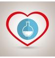 symbol medicine lab tube vector image vector image
