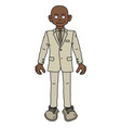 the funny afroamerican man in a light snit vector image vector image