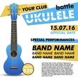 Ukulele show poster for your design battle live vector image
