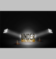 under construction on grunge background vector image vector image